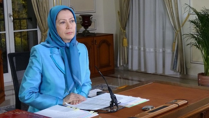 Maryam Rajavi, leader of the Iranian opposition, testifying before the US Congress via video conference