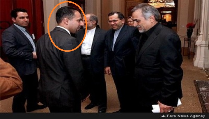 Trita Parsi paying respect the Iranian regime's delegation in Geneva