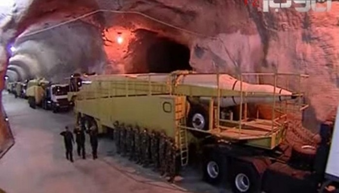 Iran Regime Unveils Missile Base to Cover Weakness